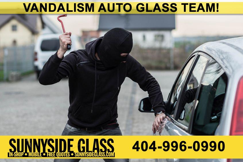 Auto Door Glass Windshield Vandalism Repair Atlanta